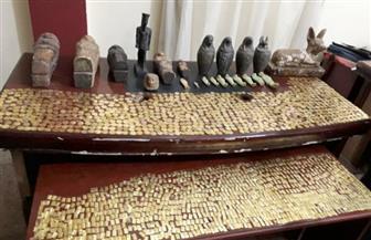 ضبط قطع فرعونية وعملات أثرية بحوزة شقيقين ببني سويف | صور