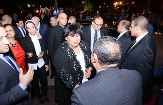 وزيرة الثقافة تصل إلى دار الأوبرا المصرية لافتتاح مهرجان الموسيقى العربية | صور