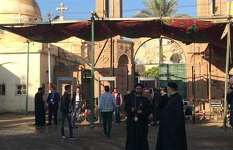 إجراءات أمنية مشددة بدير دميانة في الدقهلية استعدادا لاستقبال البابا تواضروس |صور