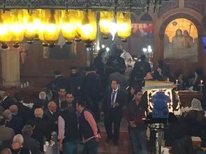 بدء قداس الأربعين للأنبا بيشوي بدير القديسة دميانة بالدقهلية بحضور البابا تواضروس