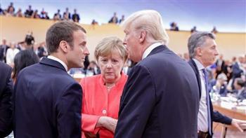 """ماكرون يلتقي ترامب وميركل قبل """"قمة الحرب العالمية"""""""