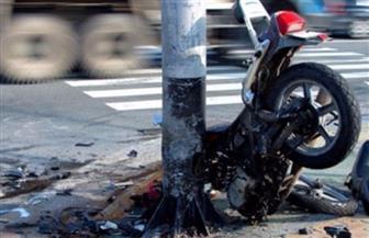 مصرع طالبين في حادث اصطدام دراجة بخارية على طريق (الفيوم - القاهرة)