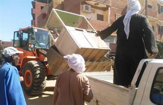 رفع 89 حالة إشغال بشوارع مركز نصر النوبة بأسوان | صور