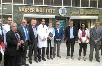 وفد فرنسى يزور معهد ناصر للبحوث والعلاج لإجراء عمليات لمرضى الأورام |صور