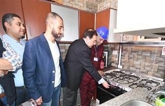 وزير البترول يتفقد أعمال توصيل الغاز بمدينة طناش بالجيزة