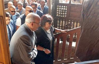وزيرة الثقافة تتفقد أعمال التجهيزات بمتحف نجيب محفوظ | صور