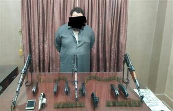 ضبط تاجر أسلحة وذخائر بدون ترخيص بالدقهلية