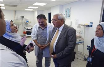 شاروبيم يعبر عن استيائه من ازدحام العيادات الخارجية بمستشفى المطرية