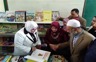 وكيلة وزارة التربية والتعليم بكفرالشيخ تفتتح معرض الكتاب بمدرسة الشهيد رياض العسكرية/ صور
