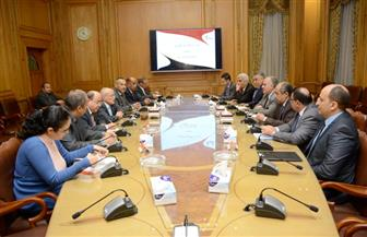 وزراء الإنتاج الحربي والري والزراعة يناقشون التعاون في تعميم نظم الري الحديث