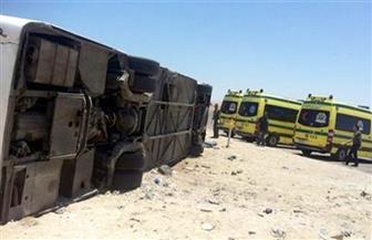 صحة مطروح: مصرع 4 وإصابة 19 في انقلاب حافلة ركاب على طريق سيوة