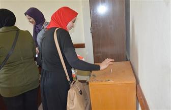 إقبال في جولة الإعادة بانتخابات الاتحادات الطلابية في 4 كليات بجامعة الفيوم | صور