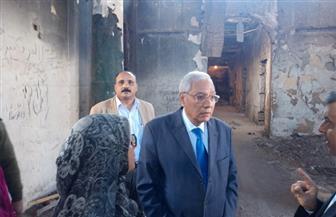شاروبيم يتفقد مبنى الحزب الوطني القديم تمهيدا لإقامة متحف لأعلام المحافظة