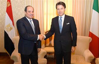 الرئيس السيسي يلتقى رئيس وزراء إيطاليا.. ويؤكد: موقف مصر قائم على التوصل لتسوية سياسية شاملة في ليبيا