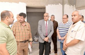 رئيس جامعة المنصورة يتفقد أعمال تجديدات المدن الجامعية للطالبات | صور
