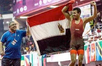 """محمد إبراهيم """"كيشو"""" يتأهل إلى نصف نهائي بطولة العالم للمصارعة تحت 23 عاما"""