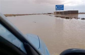 أمطار غزيرة وتوقف حركة ملاحة مراكب الصيد بمطروح