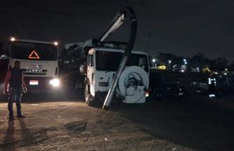 انتشار معدات الصرف بمحافظة القاهرة استعدادا لسقوط أمطار | صور