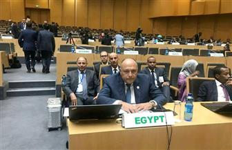 سامح شكري يشارك في اجتماع المجلس التنفيذي لقمة الاتحاد الإفريقي الاستثنائية بأديس أبابا