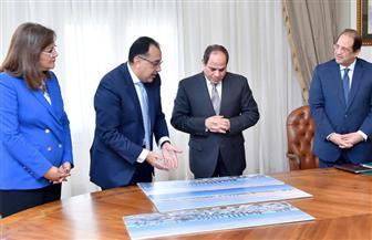 السيسي يجتمع برئيس الوزراء ووزيرة التخطيط ورئيس المخابرات العامة لمناقشة الاستفادة من الأصول غير المستغلة