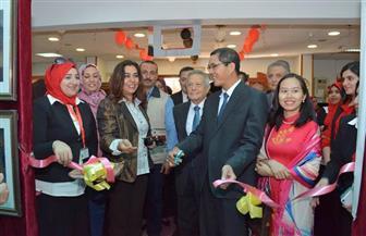"""افتتاح معرض فني """"فيتنامي مصري"""" بمكتبة مصر العامة بدمياط   صور"""