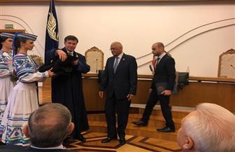 عبد العال يحصل على لقب أستاذ فخري من جامعة بيلاروسيا الحكومية
