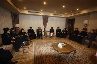 """البابا تواضروس ووزيرة الهجرة يشهدان الجلسة الختامية لمؤتمر """"مدارس الأحد"""""""