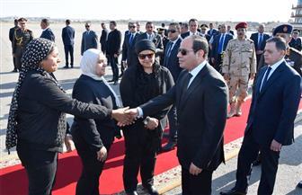 الرئيس السيسي يشارك في الجنازة العسكرية للشهيد ساطع النعماني | فيديو وصور