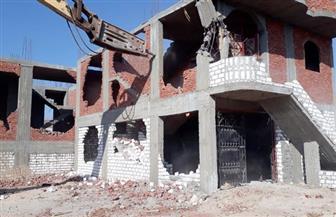 إزالة 14 حالة تعد على أملاك الدولة بقرية بنى محمد سلطان بالمنيا
