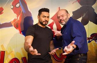 تامر حسني يهنئ مخرج فيلم سبايدرمان بعيد ميلاده| فيديو