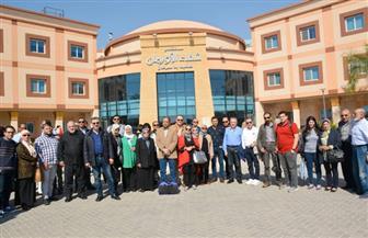 """""""الليثي"""" ومنى عبدالغني ورامي رضوان في زيارة لمستشفى علاج الأورام بالأقصر   صور"""
