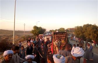 انطلاق مسيرات حاشدة بشوارع أسوان احتفالا بالمولد النبوي الشريف   صور