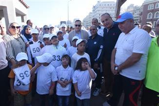 جامعة الإسكندرية تنظم ماراثونا للأطفال من ذوي الاحتياجات الخاصة  صور