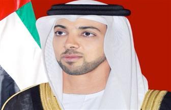 منصور بن زايد آل نهيان يستقبل وزير الرياضة السعودي
