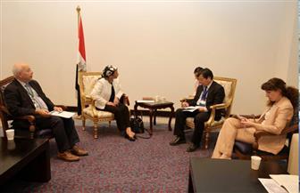 وزيرة البيئة تلتقى برئيس الوفد الصيني خلال فعاليات مؤتمر الأطراف الرابع عشر للتنوع البيولوجي