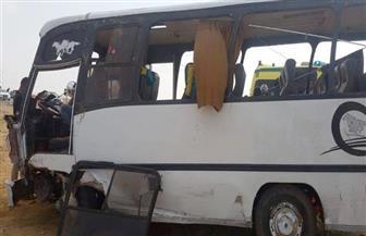 """بالأسماء.. إصابة 17 عاملا وعاملة في تصادم سيارة ميني باص بأخرى نقل على طريق """"بورسعيد الإسماعيلية"""""""