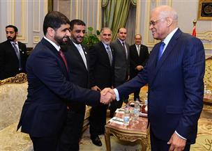 رئيس مجلس النواب يلتقي وفد كلية الدفاع الوطني بدولة الإمارات