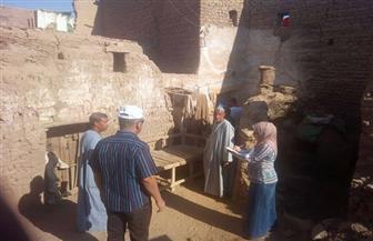 حصر المناطق الأكثر خطورة بقرية نجع السايح بأسوان| صور