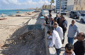 محافظ مطروح: لجنة فنية لمراجعة جدوى الألسنة الصناعية بالشواطئ | صور