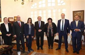 وزيرة الثقافة تستقبل وفدا برلمانيا مجريا لبحث مسارات التعاون الفكري والفني | صور