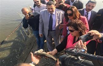 نائب وزير الزراعة  ومحافظ دمياط تتفقدان المزارع السمكية