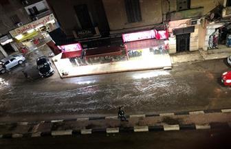 أمطار غزيرة على مدن وقرى محافظة كفرالشيخ.. وتوقف عمليات الصيد