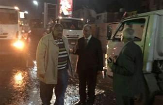 محافظ القاهرة يتفقد أعمال إصلاح خط طرد الصرف الصحي بالمعادي