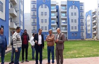انتهاء 95% من أعمال توصيل مرافق مشروع الـ 44 عمارة سكنية جنوب بورسعيد | صور