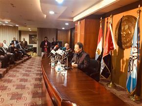 بدء المؤتمر الصحفي لاحتفالية مئوية الشيخ زايد بن سلطان الذي تنظمه مؤسسة الأهرام | صور