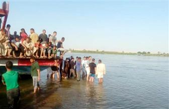 """إنقاذ 18 من مصابي حادث غرق """"معدية البحيرة"""""""