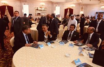 """وصول وزيري النقل وقطاع الأعمال إلى احتفالية """"الأهرام"""" بمئوية الشيخ زايد"""