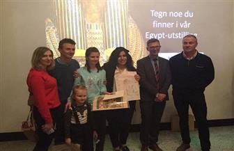 السفيرة المصرية بالنرويج تفتتح مسابقة للرسم لطلبة المدارس ومعرضا للمنتجات المصرية | صور
