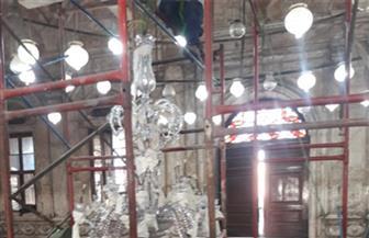 تواصل عمليات ترميم النجف الأثري بمسجد محمد علي بالقلعة | صور