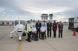مطار الغردقة يستقبل طائرات شراعية لذوي الاحتياجات الخاصة   صور